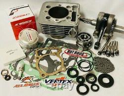 05+ TRX400EX TRX 400EX Rebuild Kit Big Bore 89mm Complete Top Bottom End 440 cc