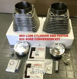 883-1200 Cylinder & Wiseco Piston Big Bore Conversion Kit 9.51 Sportster 04 +