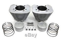 883 To 1200 Silver Cylinder Piston Big Bore Conversion Kit Harley Sportster 04+