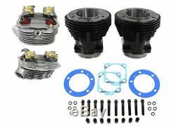 93 3 5/8 Big Bore Cylinder Head Engine Motor Kit Harley Shovelhead Panhead