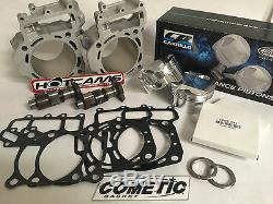 Brute Force 750 Big Bore 840 Cylinders CP Pistons Hotcams Top End Rebuild Kit
