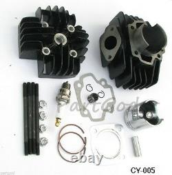Cylinder Head Assembly Kit for Yamaha PW50 81-09 QT50 79-87 60cc Big Bore kit E2