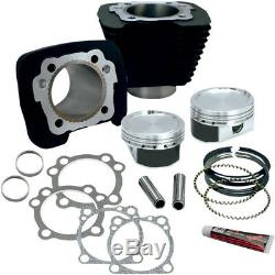 Harley XL Sportster 883-1200 BIG BORE S&S Zylinder Tuning Kit 86-19 schwarz