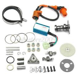Red 100cc Big Bore Set Power Pack Exhaust Parts Kit For Gy6 50cc QMB139 Scooter