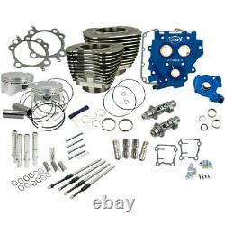 S&S Chain Drive Black 110 Big Bore Power Package Kit 2007-2017 Harley Twin Cam