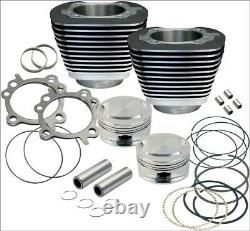 S&S Cycle 95 CI Big Bore Cylinder Kit Black 9.71 Compression 99-06 Harley