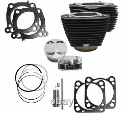 S&S Cycle M8 Big Bore Cylinder Kit Black 107 124 Harley Touring Softail 17-20