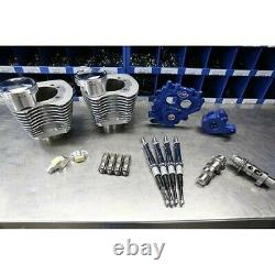 S&S Cycle Power Package 100 Silver Big Bore Kit with 585 Chain Cams 99-06