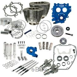 S&S Gear Drive Black 100 Big Bore Power Package Kit 1999-2006 Harley Twin Cam