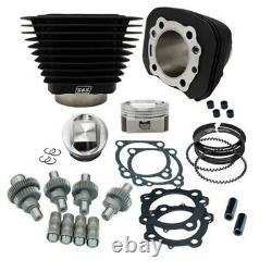 S&S SS Cycle Black Big Bore Hooligan Kit 1200cc 1250cc Harley Sportster 00-20 XL