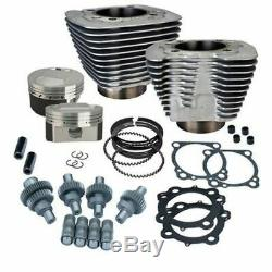 S&S SS Cycle Silver Big Bore Hooligan Kit 1200 1250cc Harley Sportster 2000-2020