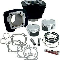 S&S Wrinkle Black Big Bore 883 to 1200 Conversion Kit for Harley Sportster 86-20