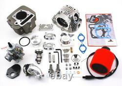 TB V2 Race Head &146cc Big Bore Kit VM 26mm Mikuni Carb 120-140cc 13mm Pin