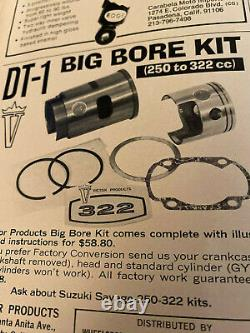 Yamaha DT1 Victor Products 250cc to 322cc Big Bore Sleeve and Piston Kit New