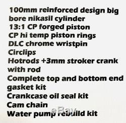 06+ Trx450r Trx 450r 450er 100mm Big Bore Kit Stroker Manivelle Complète 520 Reconstruire