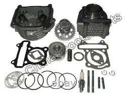 120cc Cylinder Head 52mm Gy6 Big Bore Kit Camshaft Jonway Sunny Keeway