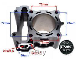 180cc 63mm En Céramique Big Bore Kit De Mise À Niveau De Cylindres Pour Yamaha Mt-125