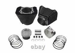 883-1200 Cylindre & Wiseco Piston Big Bore Conversion Kit Sportster Noir 86-03