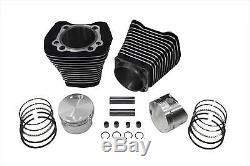 88 Evolution Big Bore Kit Cylindre Correspond Noir Harley-davidson