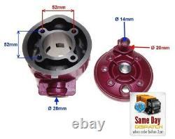 90cc Big Bore Kit + Tete Bouteille Pour Aprilia Af1 Classic Mx50 Pegaso Rs50 Rx50