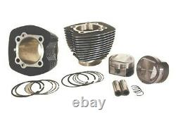 95 Big Bore Kit Black & Silver Finned Cylinders & Pistons Harley Twin Cam 00-06