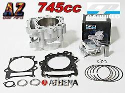 Athena Raptor 700 745cc Cylindre À Gros Pores 106.5 Cp Piston 12.51 Kit Haut De Gamme