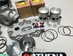 Banshee Athena 370c 66 Complet Big Bore Pistons Wiseco Cylindres De Vilebrequin Kit