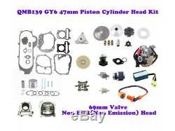 Gy6 De 47mm Qmb139 Big Bore Kit Moteur (69mm Vannes) Non-egr Big Set