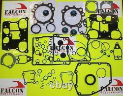 Harley Twin Cam Big Bore 1550 Top End+base Full Gasket Set/kit Avec. 040 Chef Mls