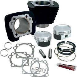 Harley XL Sportster 883-1200 Big Bore S & S Zylinder Tuning Kit 86-19 Schwarz