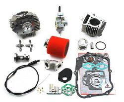 Honda Trx90 Trx 90 114cc Big Bore Kit Cylindre Tête Piston Sonne 24mm Carburateur