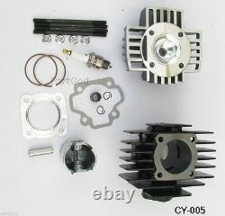 Kit D'assemblage De Tête De Cylindre Pour Yamaha Pw50 81-09 Qt50 79-87 60cc Big Bore Kit E2