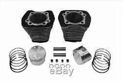 Noir 3 5/8 88 Big Bore Kit Set Cylindre Vérins Harley Evolution Evo