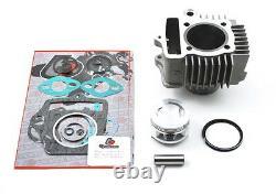Nouveau 88cc Hi-comp Big Bore Kit 80-81 Honda C70 Passport Cylinder Piston Reconstruire