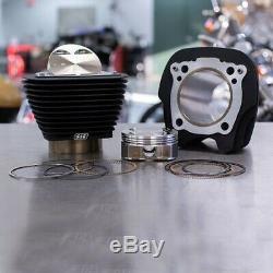 S & S 910-0681 Noir Withno Mettre En Évidence Fins 124 Big Bore Bolt-in Kit M8 107 Harley