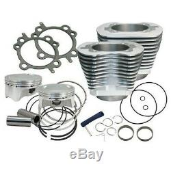 S & S Cycle 4 Sidewinder 100 Big Bore Kit'99-'06 Hd Big Twin Cam Argent