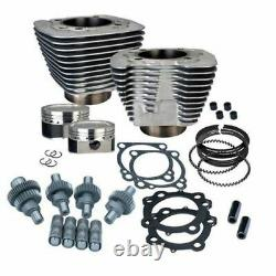 S & Ss Cycle Silver Big Bore Hooligan Kit 1200cc Harley Sportster 00-2020 XL 883