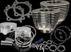 S&s Bolt-in Sidewinder 4 Big Bore Engine Kit Wrinkle Black 99-06 Fl/fx 910-0646