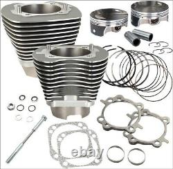 S&s Cycle 117 CI Big Bore Cylinder Kit Stone Gray 10.91 Compression 07-16 Harl