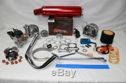 Scooter Big Bore Kit 100cc 50mm Alésage Qmb139 Performance Scooter Pièces Kit5red