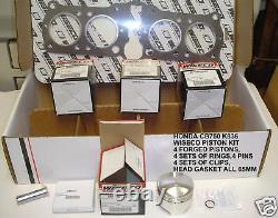 Wiseco K1135 1135cc Big Bore Piston Kit Manches Z1 Kz1000 Kz900 Z1r Z2r Dragbike
