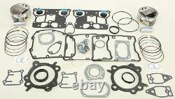 Wiseco Top End Kit Big Bore 95ci 10,51 Pistons & Harley Gaskets Tc 88 99-06