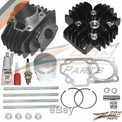 Yamaha Qt50 60cc Big Bore Set Kit Cylindre À Piston Joint Head Top End 1979-1987