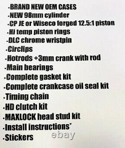 Yfz450 Yfz 450 500cc Big Bore Stroker Crank Cases Complete Rebuild Kit Hotrods